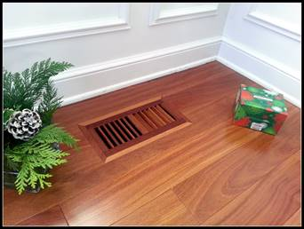 Flush Mount And Self Rimming Hardwood Vents Floor