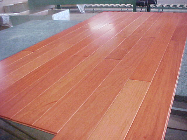Prefinished solid 3 8 brazilian cherry flooring by for Brazilian cherry flooring