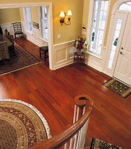 Cherry Hardwood Flooring kitchen with american cherry hardwood flooring Halbert Brazilian Cherry Floor View From Staircase