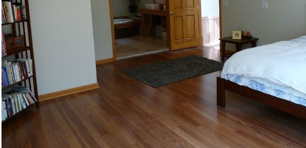 Brazilian Teak (Cumaru) - Even, moderate brown tones.